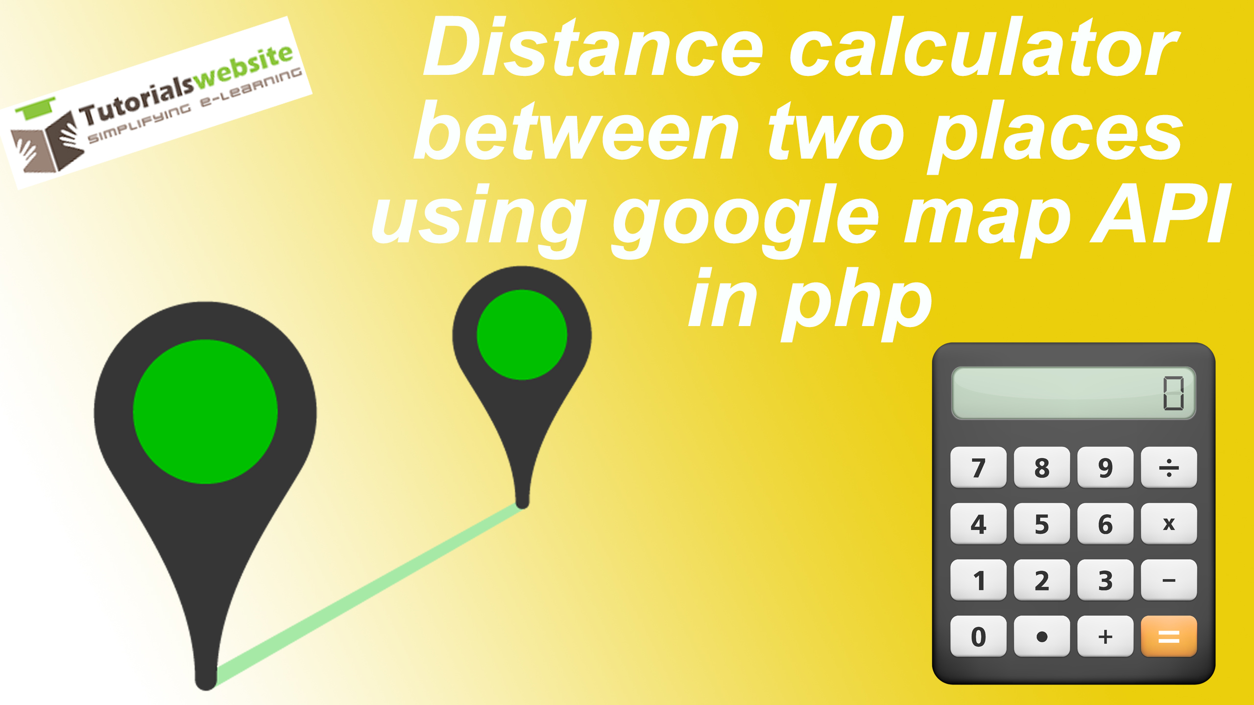Distance Calculator Between Two Places Using Google Map API In Php - Show location on map using latitude and longitude php